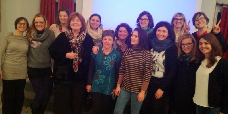 il gruppo territoriale di Torino, i referenti del CROAS Piemonte ed Elena Allegri
